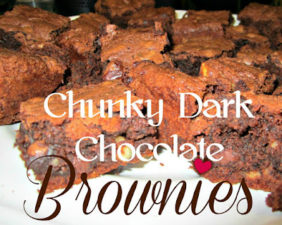 Chunky Dark Chocolate Brownies by Reviews, Chews, and How Tos