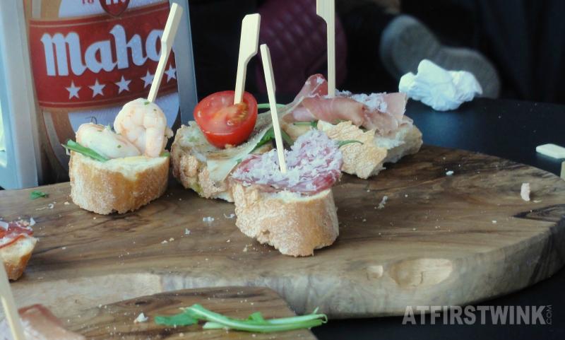 21 pinchos tapas bar markthal rotterdam shrimps cheese cherry tomato ham salami
