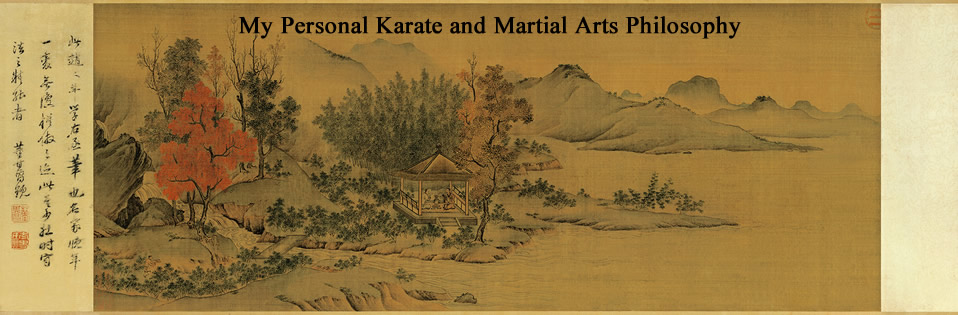<center>My Personal Martial Philosophy</center>