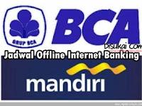 Jadwal Offline Online Bank BCA, MANDIRI, BNI, BRI Internet Banking PALING UPDATE