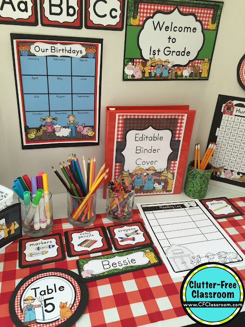 Classroom Decor Items ~ Farm themed classroom ideas printable