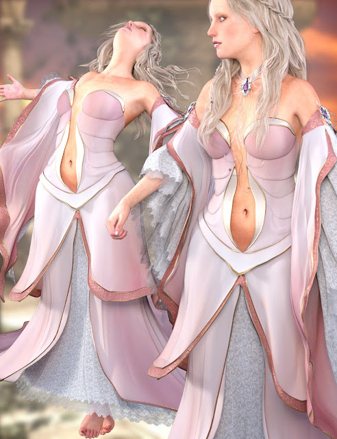 The CallaGown for Genesis 3 Female and Genesis 2 Female