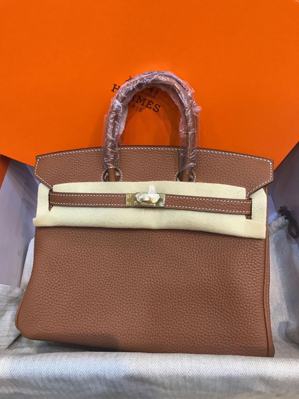 Code  Hermes Birkin B25Cm Togo GHW and PHW Mirror Original Leather Bag ff48bf23d1