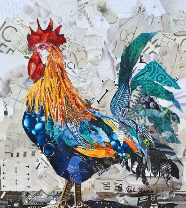 gambar kolase ayam