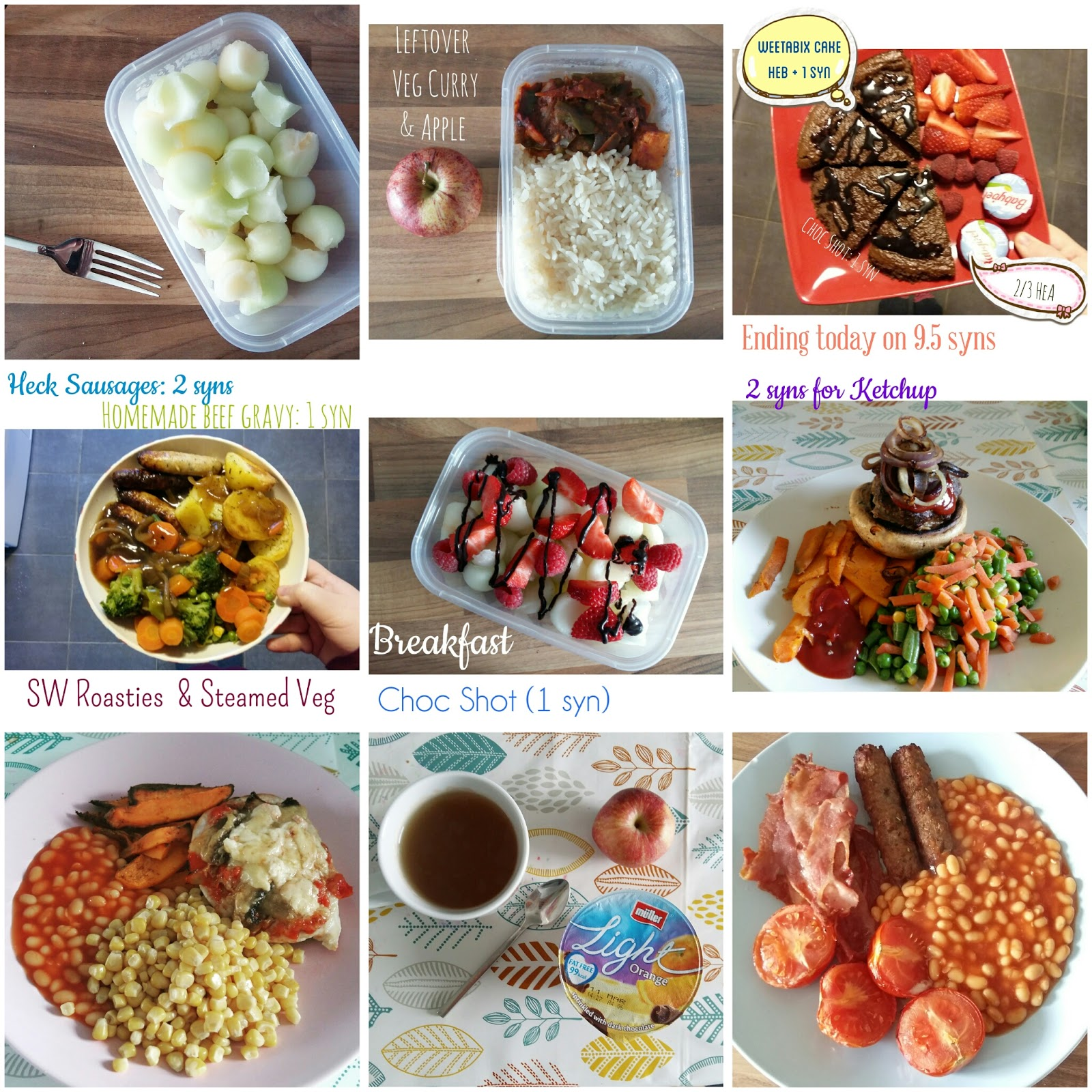 Little and big slimming world take two week 1 5 Slimming world meal ideas