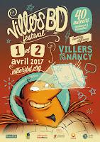 Un Grand Merci à VillersBD !; affiche; villersbd 2017; villers bd; villers ; nancy; festival