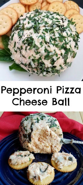 This cheese ball is full of pepperoni pizza flavor but in a fun, spreadable appetizer form! It is sure to be a hit at your next party and would be great at a tailgate!