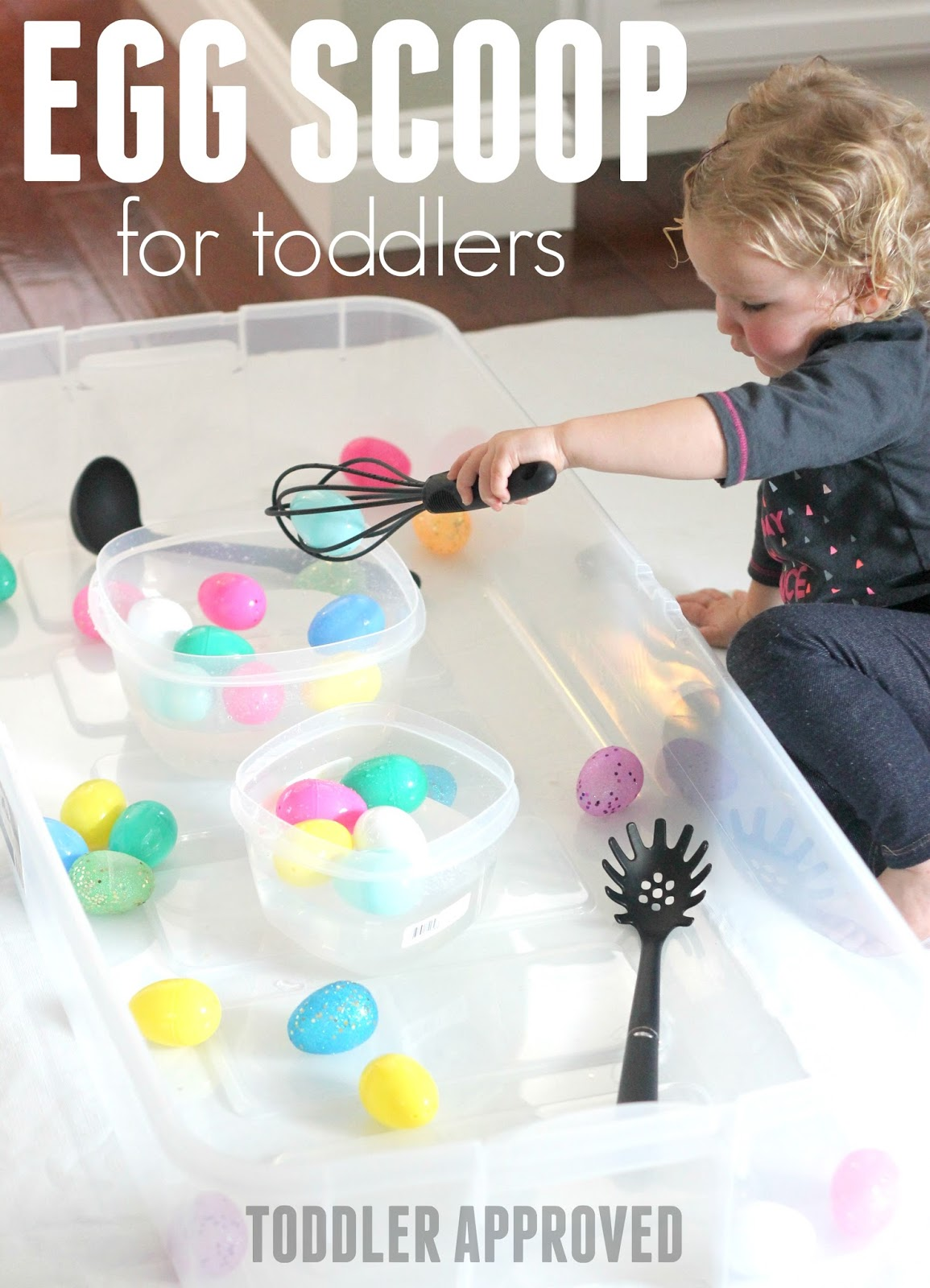 Toddler Approved Egg Scoop Easter Activity For Toddlers