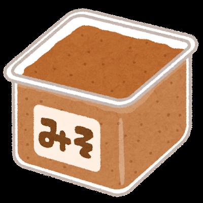 合わせ味噌のイラスト
