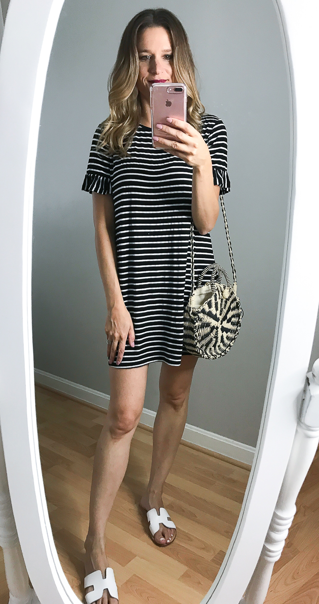 Stripe tee shirt dress