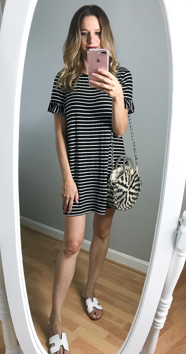 Stripe tee shirt dress
