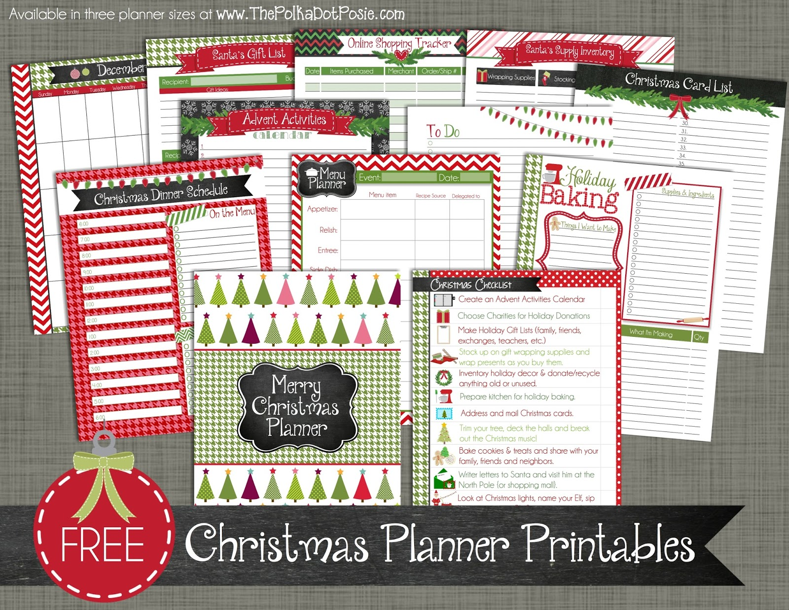 The Polka Dot Posie Introducing Our New Merry Christmas Planner