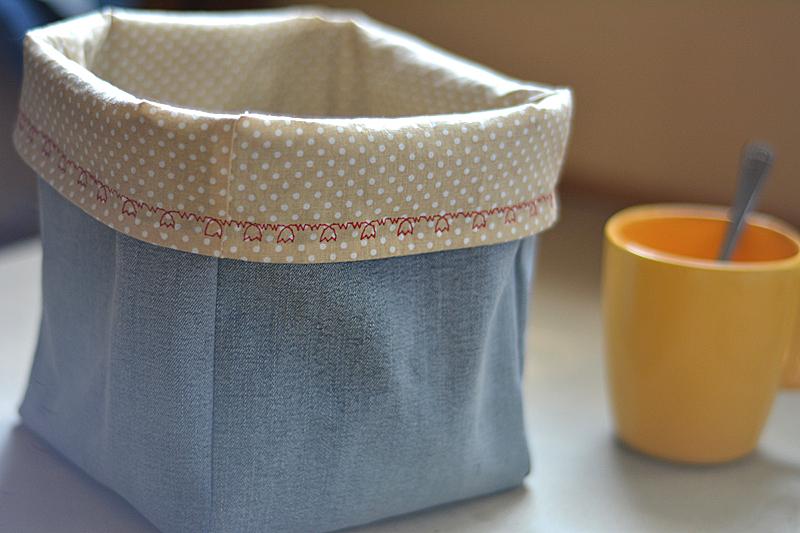 Jednoduchý košík z textilu - návod