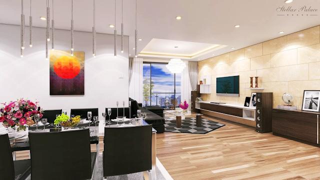 Phòng khách chung cư Quang Minh Tower