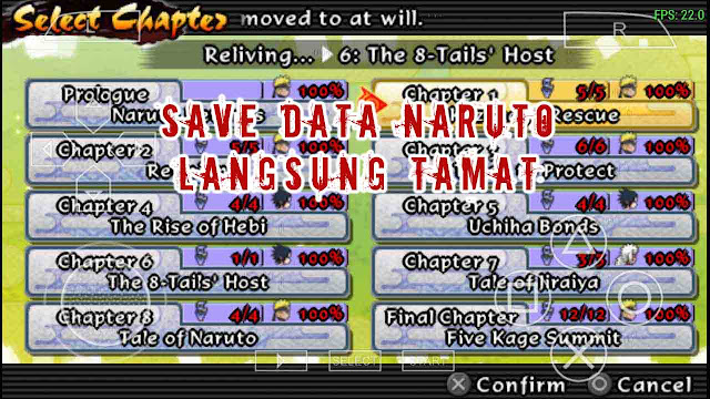 Save data naruto Ultimate Ninja Impact