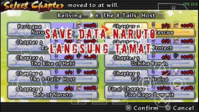Save data naruto Ultimate Ninja Impact