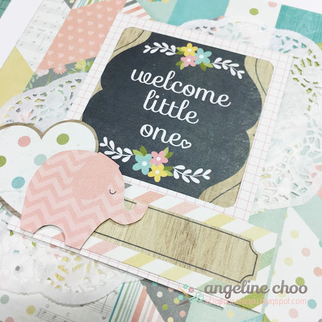 ScrappyScrappy: Welcome little one #scrappyscrappy #baby #minialbum #simplestories #hellobaby