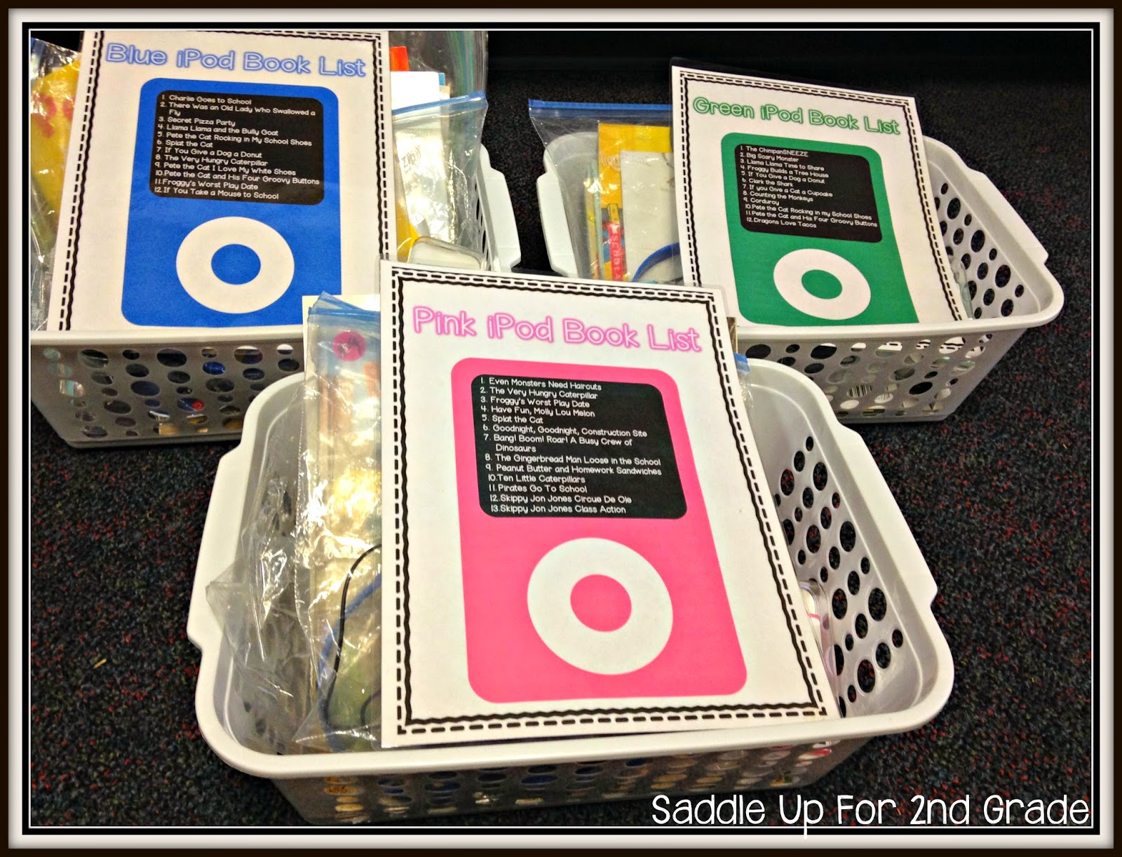 iPod Listening Center Organization  by Saddle Up For 2nd Grade
