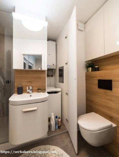 Квартира студия, за которой несложно ухаживать. Ванная комната вас удивит, терраса - восхитит