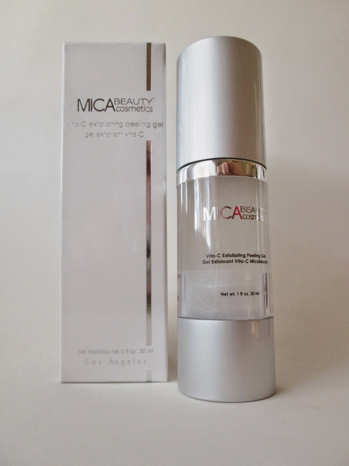 MICA Beauty Cosmetics Vita-C Exfoliating Peeling Gel in a One Ounce Pump
