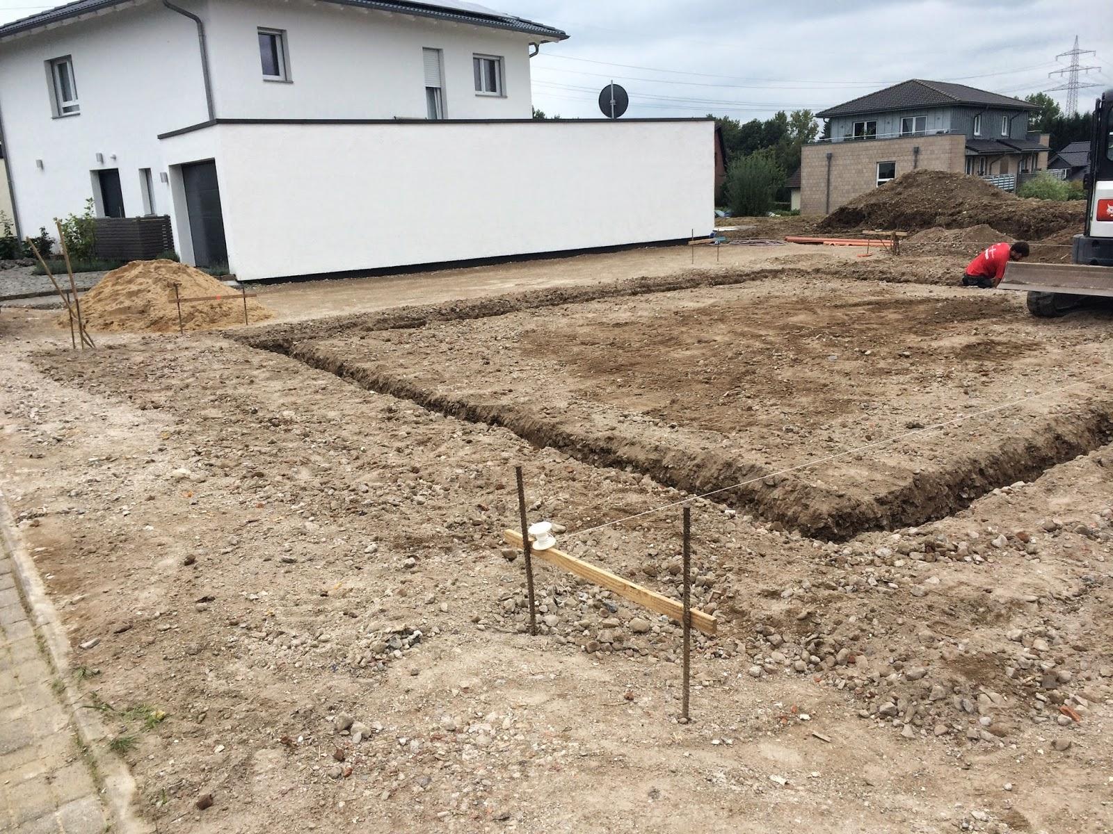 Hausbau Mit Streif Die Bodenplatte