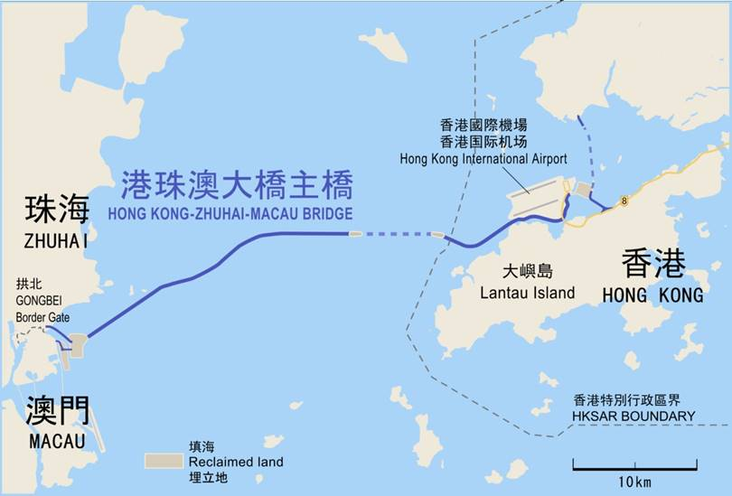 The tunnel was built under the surface of the Lindingian Canal, which is part of the Pearl River Delta, or otherwise the Pearl River - the third largest in China.