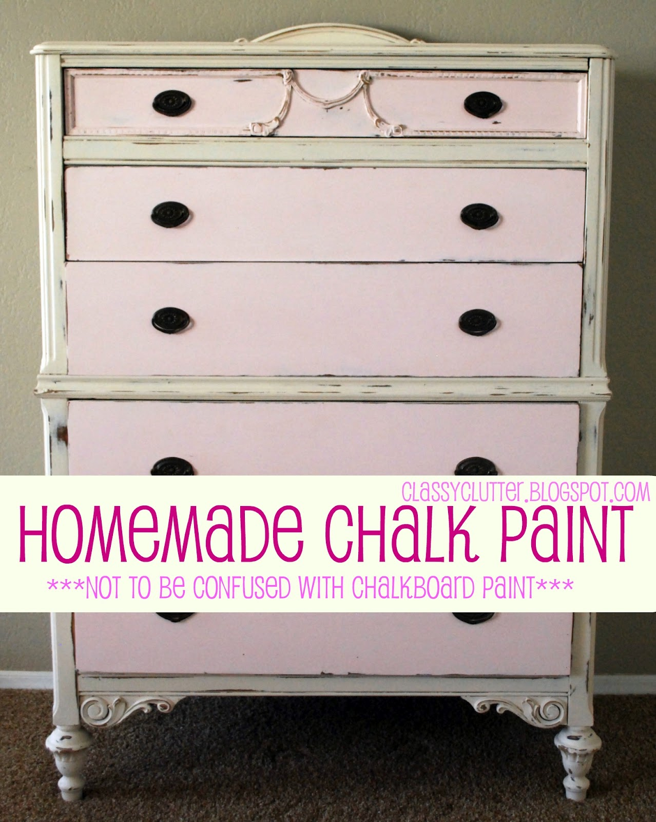 Awesome Homemade Chalk Paint Classy Clutter Download Free Architecture Designs Barepgrimeyleaguecom