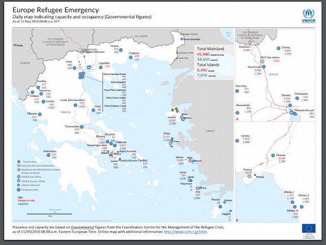 2073 πρόσφυγες βρίσκονται αυτή την στιγμή στον νομό Πιερίας σύμφωνα με την Ύπατη Αρμοστεία του ΟΗΕ.