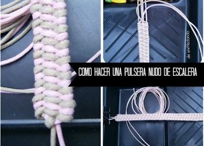 Como hacer una Pulsera Nudo de Escalera
