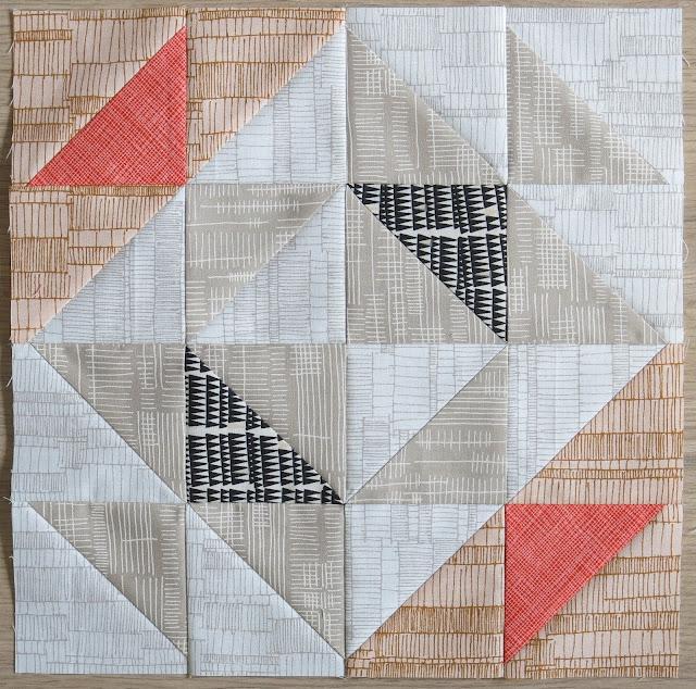 HST Quilt-Along - Block #12 - Rockpool - Carolyn Friedlander fabrics