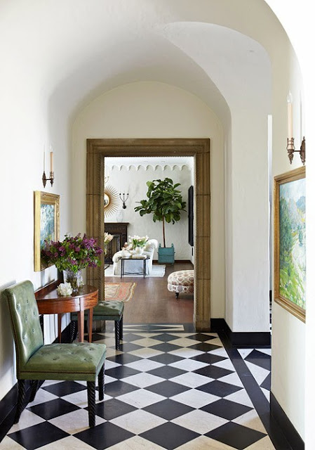 Return To Home The Black And White Checkered Floor