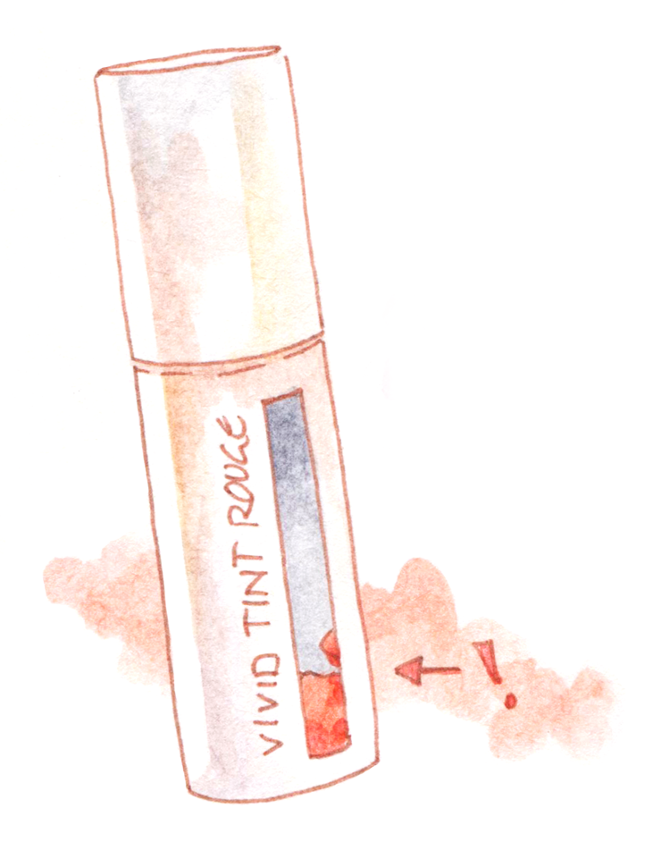 Korean Makeup Review Favorit Liptint Vivid Tint Rouge Innisfree Illustration