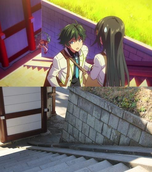 47 gambar Anime pemandangan tangga