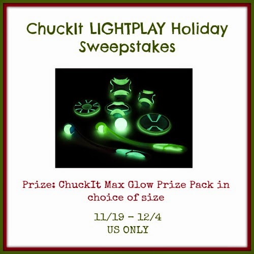 Enter the ChuckIt LIGHTPLAY Holiday Sweepstakes. Ends 12/4.