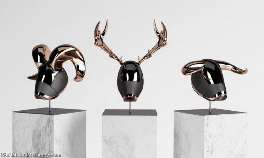 12. Futuristic animal head sculptures by Blank William 1