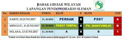 Jadwal 16 Besar Piala Ramadan 2017 Ascab Sleman