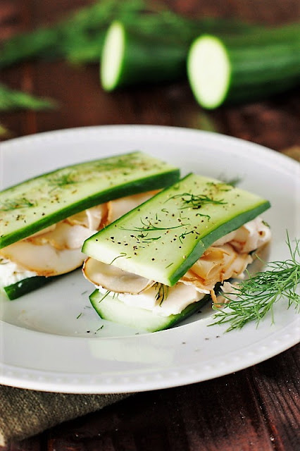 Low-Carb Smoked Turkey & Cucumber 'Sandwiches' Image