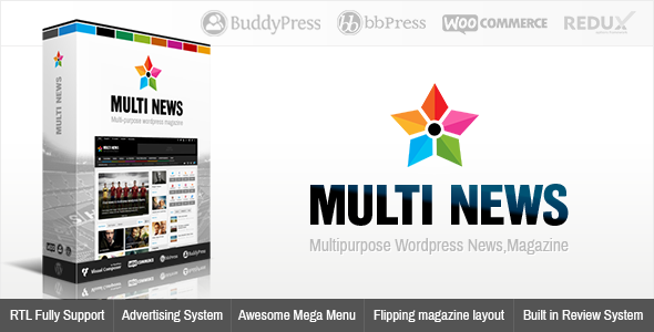 Free Download MultinewsV2.3.3 Multi-purpose Wordpress News,Magazine Theme