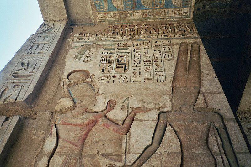 نتيجة بحث الصور عن معبد رمسيس الثالث بالكرنك