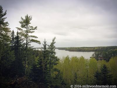 Kabetogama Lake under rain clouds, Voyageurs National Park, Orr, Minnesota
