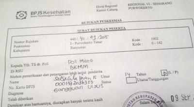 contoh surat rujukan bpjs dari faskes tk1