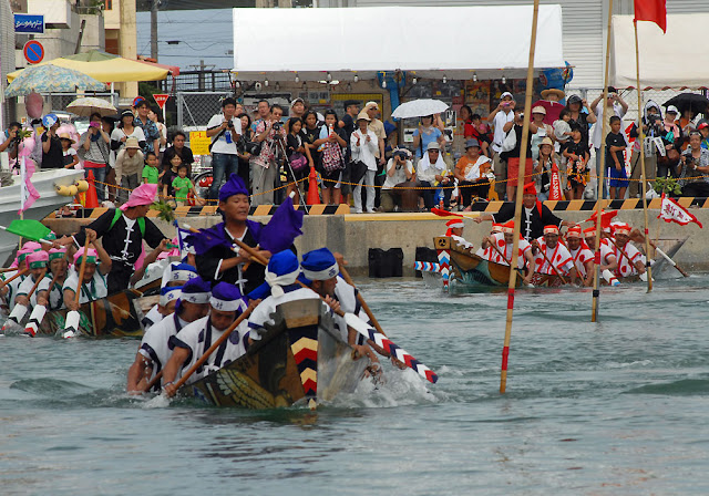 Itoman Harlee (boat race) at Itoman Fishery Harbour, Okinawa Pref.