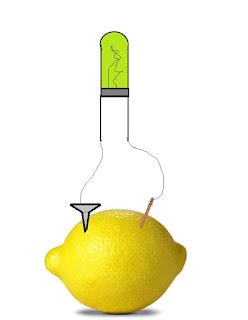 fazer energia lâmpada com limões