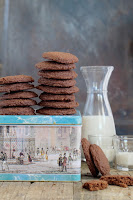 Cookies de chocolate sin gluten, sin lactosa, sin huevo