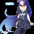 Tags: Render, Cleavage, Full body, Large Breasts, Long hair, Monogatari (Series), Pantyhose, Ponytail, Purple hair, Senjougahara Hitagi, Very long hair