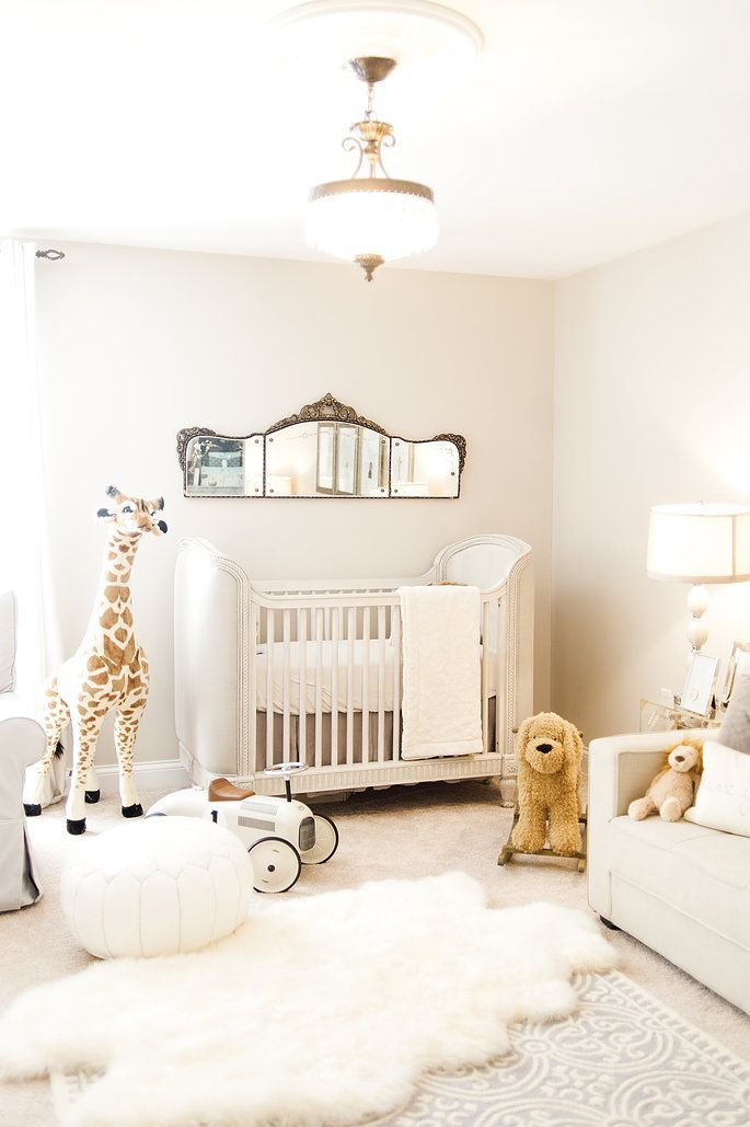 french nursery with pink and gold