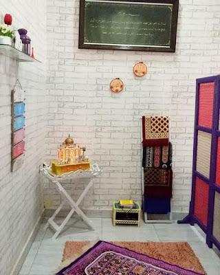 Gambar Desain Mushola Minimalis Rumah Sempit