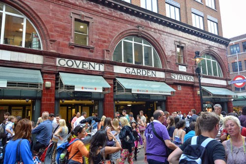 Covent Garden Underground Station, London, UK