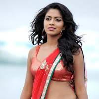 Amala paul hot still in saree from naayak telugu movie