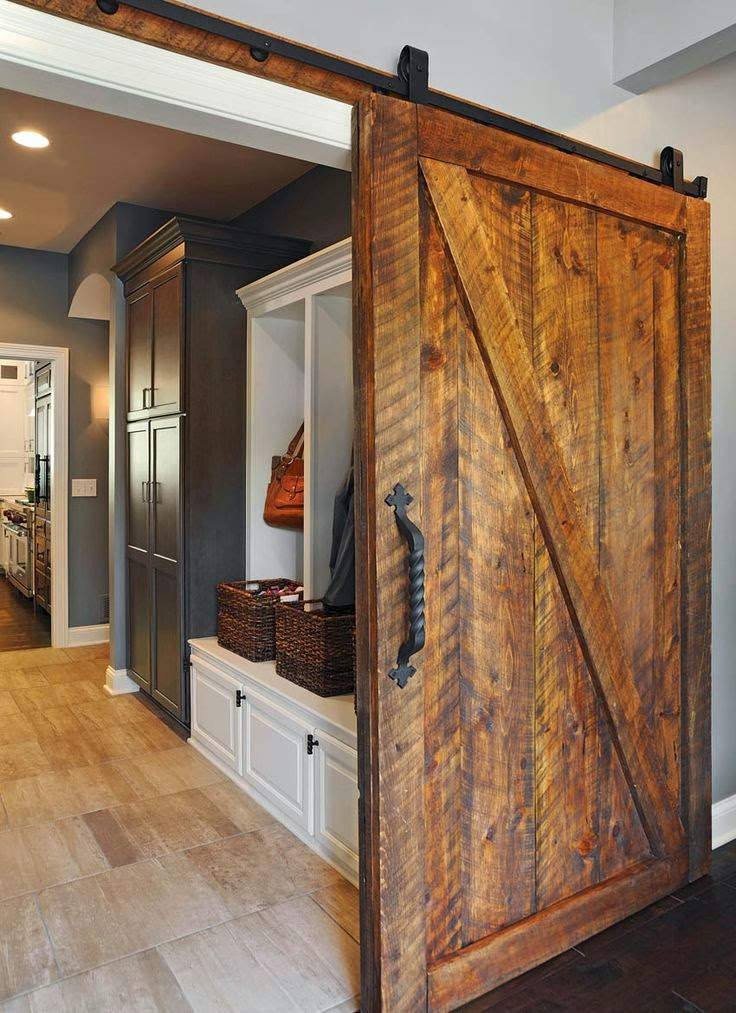 Coastal Charm: Sliding Barn Doors